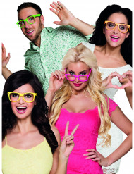 4 Lunettes fluo adulte