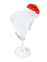 10 Marque-verres en carton bonnet de Noël