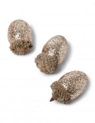 8 Glands à paillettes cuivrées 4.5 cm