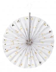 Rosace blanche à triangles dorés 40cm