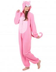 Combinaison à capuche panthère rose femme