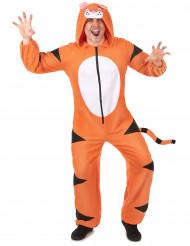 Combinaison à capuche tigre homme