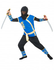 Déguisement ninja bleu et or garçon