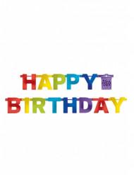 Guirlande Happy Birthday multicolore 219 cm