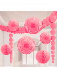 Kit de 9 décorations de salle rose