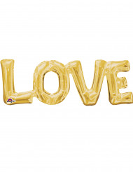 Ballon aluminium Love doré 63 x 22 cm
