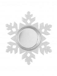 Porte bougie flocon de neige blanc
