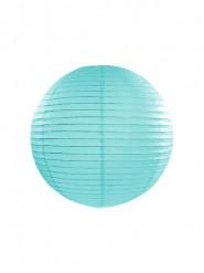 Lanterne japonaise bleu turquoise 25 cm