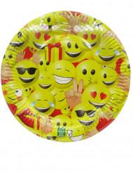 10 Assiettes en carton Emoji™ 23 cm