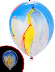 5 Ballons LED marbrés multicolores Illooms ®
