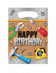 8 Sacs de fête Happy Birthday Bricoleur