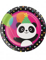 8 Assiettes en carton Panda Party
