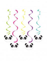 5 Suspensions spirales Panda Party