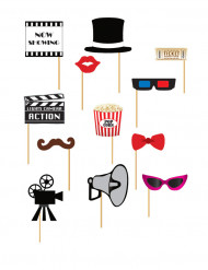 Kit photobooth Cinéma 12 pièces