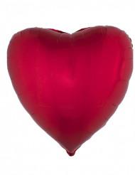 Ballon aluminium en forme de coeur rouge 45 cm