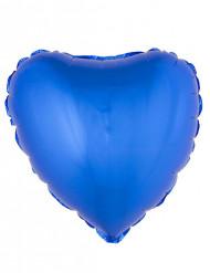 Ballon aluminium coeur bleu 45 cm