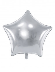 Ballon aluminium étoile argentée 45 cm