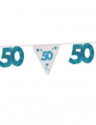 Guirlande bleue 50 ans 6m