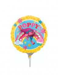 Petit ballon aluminium gonflé Poppy Trolls™ 23 cm