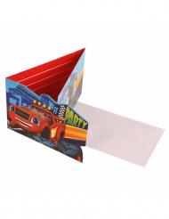 8 invitations et enveloppes Blaze et les Monster Machines™