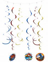 6 Décorations spirales Blaze et les Monster Machines™ 80 cm