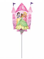 Petit ballon en aluminium château Princesses Disney™ gonflé 33 cm