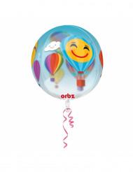 Ballon transparent Montgolfière 40 cm