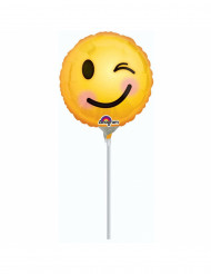 Ballon aluminium émoticône clin d'œil 23 cm