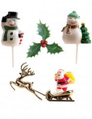 Kit de 6 décorations pour bûche de Noël