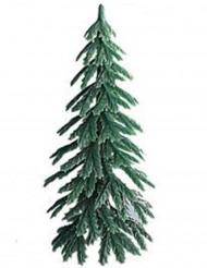 Sapin en plastique décoration bûche de Noël 7 cm