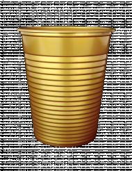 50 Gobelets en plastique or métallisé 200 ml
