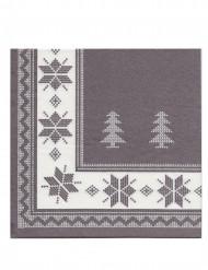 12 Serviettes en papier intissé Premium taupe 40 x 40 cm