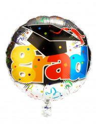 Ballon aluminium diplomé coloré