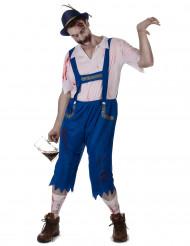 Déguisement zombie bavarois bleu homme