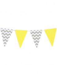 Kit Guirlande 10 fanions gris et jaune