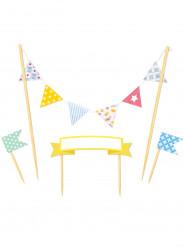 Décoration fanions pour gâteaux d'anniversaire
