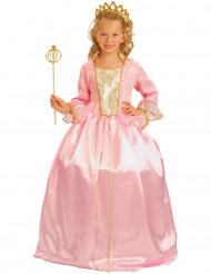 Déguisement Princesse rose luxe fille