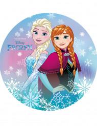 Disque azyme La Reine des Neiges™ Anna et Elsa 20 cm