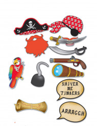 Kit photobooth pirate 12 accessoires
