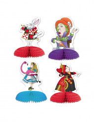 4 Mini centres de table Alice au pays imaginaire