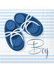 20 Serviettes en papier Baby Boy 33 x 33 cm