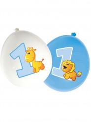 16 Ballons latex Animaux 1 an garçon 30 cm