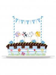 Kit de décorations pour gâteau Animaux 1 an garçon