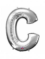 Ballon aluminium géant Lettre C argent 63 x 81 cm