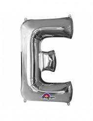 Ballon aluminium géant Lettre E argent 53 x 81 cm