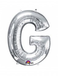 Ballon aluminium géant Lettre G argent 63 x 81 cm