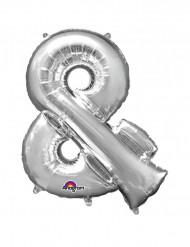 Ballon aluminium géant Symbole & argent 76 x 96 cm