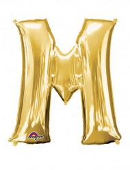 Ballon aluminium géant Lettre M or 81 x 83 cm