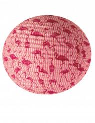 Lanterne faite à la main lokta flamingo 40 cm