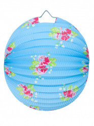 Lampion boule liberty bleu 30 cm